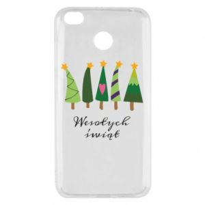 Xiaomi Redmi 4X Case Five Christmas trees happy holidays