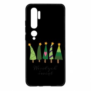 Xiaomi Mi Note 10 Case Five Christmas trees happy holidays