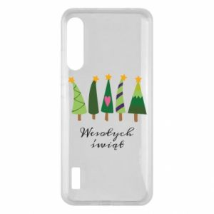 Xiaomi Mi A3 Case Five Christmas trees happy holidays