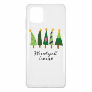 Samsung Note 10 Lite Case Five Christmas trees happy holidays