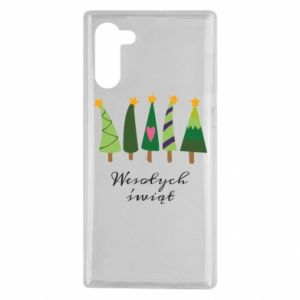 Samsung Note 10 Case Five Christmas trees happy holidays
