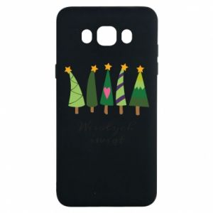 Samsung J7 2016 Case Five Christmas trees happy holidays