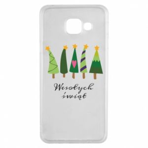 Samsung A3 2016 Case Five Christmas trees happy holidays