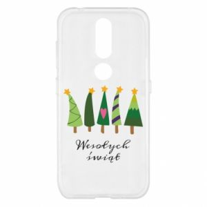 Nokia 4.2 Case Five Christmas trees happy holidays