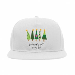 SnapBack Five Christmas trees happy holidays