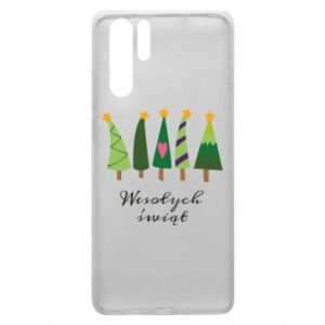 Huawei P30 Pro Case Five Christmas trees happy holidays