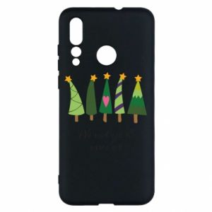 Huawei Nova 4 Case Five Christmas trees happy holidays