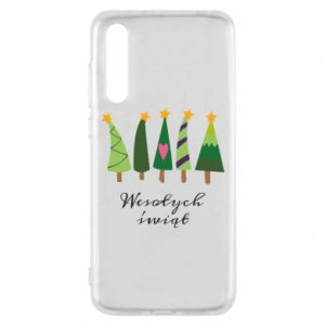 Huawei P20 Pro Case Five Christmas trees happy holidays