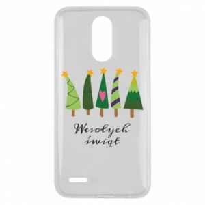 Lg K10 2017 Case Five Christmas trees happy holidays