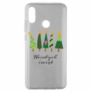 Huawei Honor 10 Lite Case Five Christmas trees happy holidays
