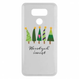 LG G6 Case Five Christmas trees happy holidays