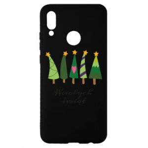 Huawei P Smart 2019 Case Five Christmas trees happy holidays