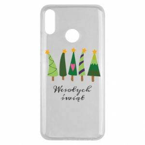Huawei Y9 2019 Case Five Christmas trees happy holidays