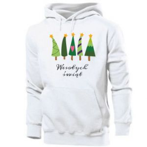 Men's hoodie Five Christmas trees happy holidays