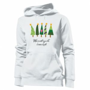 Women's hoodies Five Christmas trees happy holidays