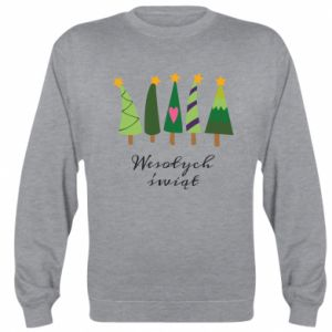 Sweatshirt Five Christmas trees happy holidays