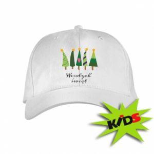 Kids' cap Five Christmas trees happy holidays