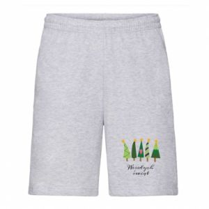 Men's shorts Five Christmas trees happy holidays