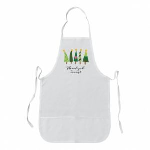 Apron Five Christmas trees happy holidays
