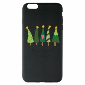 iPhone 6 Plus/6S Plus Case Five Christmas trees happy holidays