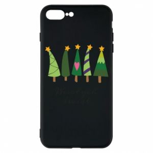 iPhone 7 Plus case Five Christmas trees happy holidays