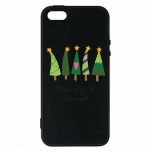 iPhone 5/5S/SE Case Five Christmas trees happy holidays