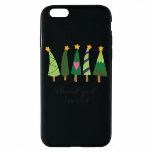 iPhone 6/6S Case Five Christmas trees happy holidays