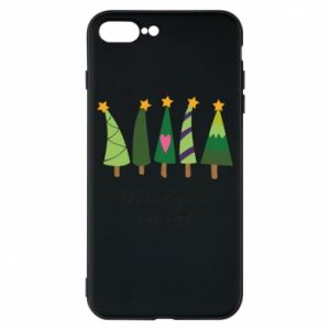 iPhone 8 Plus Case Five Christmas trees happy holidays