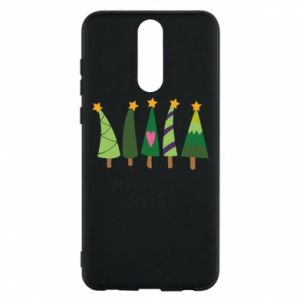 Huawei Mate 10 Lite Case Five Christmas trees happy holidays