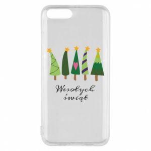 Xiaomi Mi6 Case Five Christmas trees happy holidays
