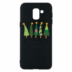 Samsung J6 Case Five Christmas trees happy holidays