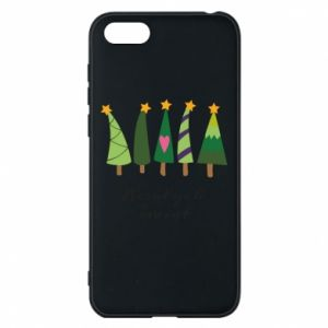 Huawei Y5 2018 Case Five Christmas trees happy holidays