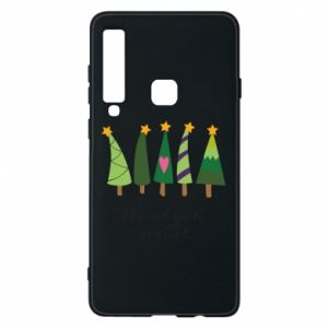 Samsung A9 2018 Case Five Christmas trees happy holidays