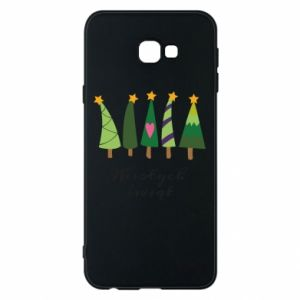 Samsung J4 Plus 2018 Case Five Christmas trees happy holidays