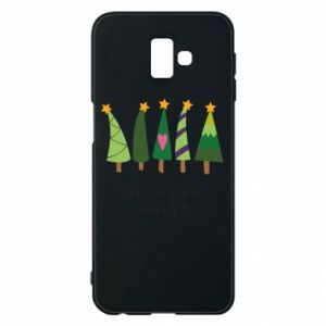 Samsung J6 Plus 2018 Case Five Christmas trees happy holidays