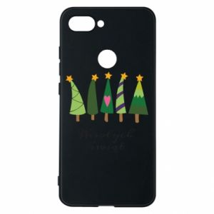 Xiaomi Mi8 Lite Case Five Christmas trees happy holidays