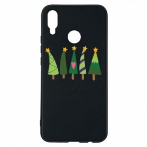 Huawei P Smart Plus Case Five Christmas trees happy holidays