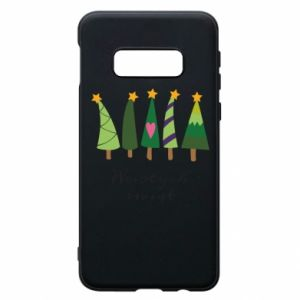 Samsung S10e Case Five Christmas trees happy holidays