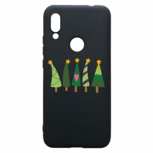 Xiaomi Redmi 7 Case Five Christmas trees happy holidays
