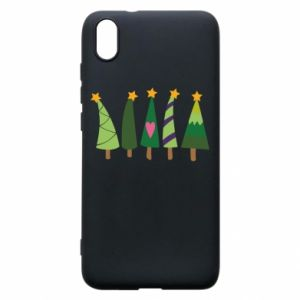 Xiaomi Redmi 7A Case Five Christmas trees happy holidays