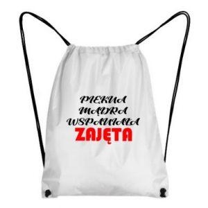 Plecak-worek Piękna, mądra,wspaniała