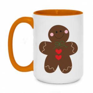 Two-toned mug 450ml Gingerbread Man