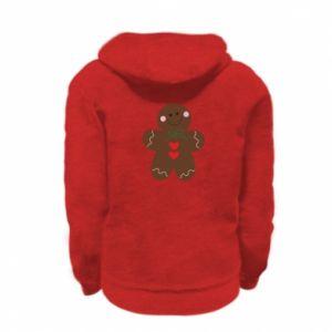 Kid's zipped hoodie % print% Gingerbread Man
