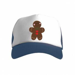 Kid's Trucker Hat Gingerbread Man