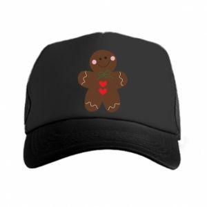Trucker hat Gingerbread Man