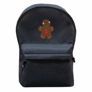 Backpack with front pocket Gingerbread Man