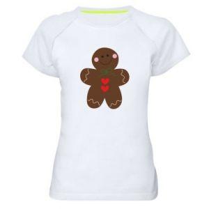 Damska koszulka sportowa Piernikowy człowiek