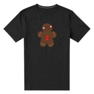 Męska premium koszulka Piernikowy człowiek