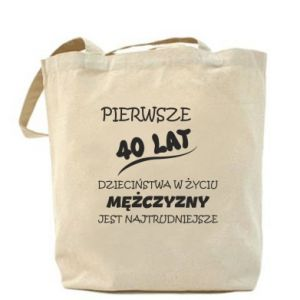 Bag Inscription: The first 40 years of childhood