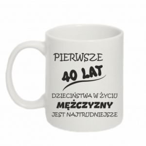 Mug 330ml Inscription: The first 40 years of childhood